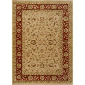 Home Dynamix Antiqua Cream/Red 5 ft. 2 in. x 7 ft. 2. in Area Rug