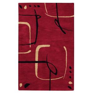 Home Decorators Collection Fragment Red 7 ft. 6 in. x 9 ft. 6 in. Area Rug