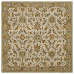 Kaleen Tara St. Vincent Ivory 7 ft. 9 in. x 7 ft. 9 in. Square Area Rug
