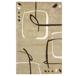 Home Decorators Collection Fragment Dark Sand 7 ft. 6 in. x 9 ft. 6 in. Area Rug