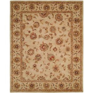 HRI Palace Ivory 7 ft. 6 in. x 9 ft. 6 in. Area Rug