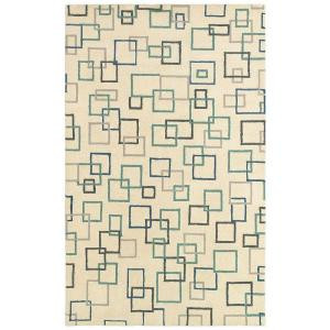 LR Resources Allure Beige 7 ft. 9 in. x 9 ft. 9 in. Plush Indoor Area Rug