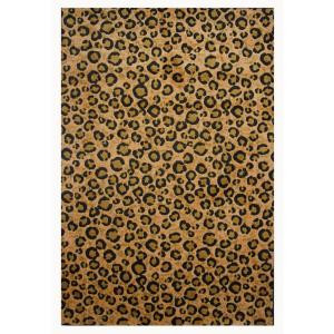 LA Rug Inc. Supreme Leopard Skin Brown and Black 31 in. x 47 in. Area Rug
