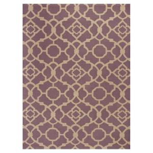 Kas Rugs Chateau Purple/Beige 2 ft. 3 in. x 3 ft. 9 in. Area Rug
