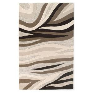 Kas Rugs Textured Waves Beige 5 ft. x 8 ft. Area Rug