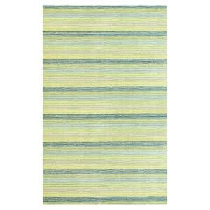 Kas Rugs Pinstripe Green 3 ft. 3 in. x 5 ft. 3 in. Area Rug