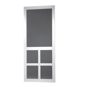 Screen Tight Lafayette 36 in. Vinyl White Wide Stile Screen Door