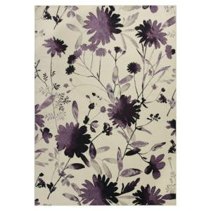 Kas Rugs Flower Blast Purple/Ivory 7 ft. 10 in. x 11 ft. 2 in. Area Rug