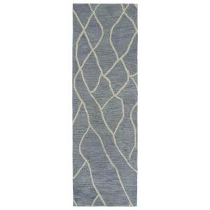 Kaleen Casablanca Grey 3 ft. x 10 ft. Runner