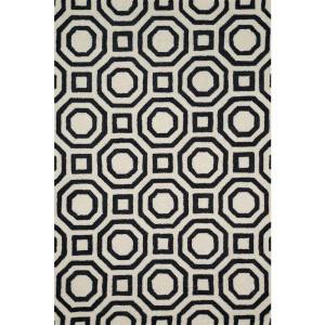 Loloi Rugs Weston Lifestyle Collection Ivory Black 5 ft. x 7 ft. 6 in. Area Rug