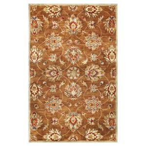 Kas Rugs In Style Kashan Coffee 5 ft. x 8 ft. Area Rug