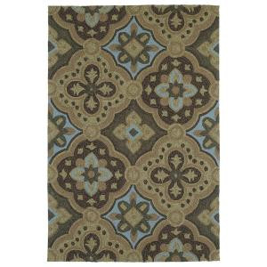 Kaleen Habitat Courtyard Mocha 2 ft. 6 in. x 8 ft. Area Rug