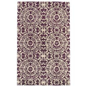 Kaleen Evolution Purple 5 ft. x 7 ft. 9 in. Area Rug