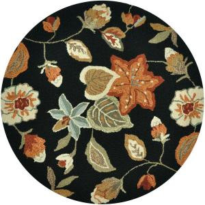 Loloi Rugs Summerton Life Style Collection Black Rust 3 ft. Round Area Rug