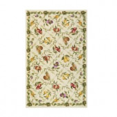 Home Decorators Collection Fruit Garden Ivory 2 ft. 9 in. x 4 ft. 9 in. Area Rug