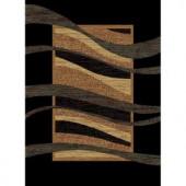 United Weavers Swinger Black 7 ft. 10 in. x 10 ft. 6 in. Area Rug
