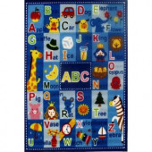 LA Rug Inc. Fun Time Letters and Names Multi Colored 39 in. x 58 in. Area Rug