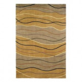 Kas Rugs Geo Waves Earth 3 ft. 6 in. x 5 ft. 6 in. Area Rug