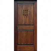 Main Door Rustic Mahogany Type Prefinished Distressed Solid Wood Speakeasy Entry Door Slab
