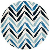 Safavieh Soho Ivory/Blue 6 ft. x 6 ft. Round Area Rug