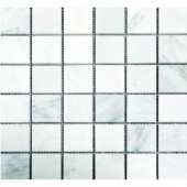 MS International 2 in.x 2 in. Greecian White Mosaic Honed - 12 in.x12 in. Sheet