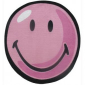 LA Rug Inc. Smiley Pink 39 in. Round Area Rug