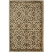 Fabris Khaki 7 ft. 10 in. x 10 ft. 10 in. Area Rug