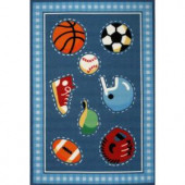 LA Rug Inc. Olive Kids Go Team Multi Colored 39 in. x 58 in. Area Rug