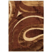 LR Resources Clafouti Baked 5 ft. 3 in. x 7 ft. 6 in. Plush Indoor Area Rug