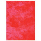 LA Rug Inc. Flokati Red 31 in. x 47 in. Accent Rug