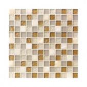Jeffrey Court Onyx Studio 12 in. x 12 in. Glass Mosaic Wall & Floor Tile
