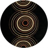 Artistic Weavers Michael Black 8 ft. Round Area Rug