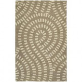 Kaleen Carriage Traffic Nutmeg 8 ft. x 10 ft. Area Rug