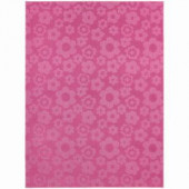 Garland Rug Flowers Pink 5 ft. x 7 ft. Area Rug