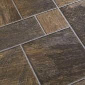 Bronze Random Slate Laminate Flooring Sample- 5 in. x 7 in. Take Home Sample
