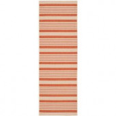 Safavieh Courtyard Terracotta/Beige 2.3 ft. x 6.6 ft. Runner