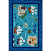LA Rug Inc. Olive Kids Pirates! Multi Colored 19 in. x 29 in. Area Rug