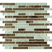 MS International Celestine Blend Interlocking 12 in. x 12 in. Glass/Stone Blend Mesh-Mounted Mosaic Wall Tile