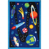LA Rug Inc. Olive Kids Out of This World Multi Colored 39 in. x 58 in. Area Rug