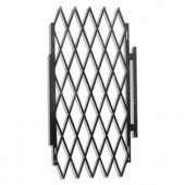Grisham 48 in. Security Expandable Gate Black