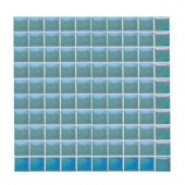 Daltile Sonterra Glass Azul Verde Iridescent 12 in. x 12 in. x 6mm Glass Sheet Mounted Mosaic Wall Tile (10 sq. ft. / case)
