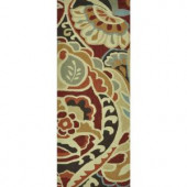 Loloi Rugs Summerton Life Style Collection Red Multi 2 ft. x 5 ft. Runner