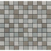 MS International Majestic Ocean 12 in. x 12 in. Beige Glass Mesh-Mounted Mosaic Tile