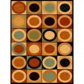 United Weavers Roundtop Multi 5 ft. 3 in. x 7 ft. 2 in. Area Rug
