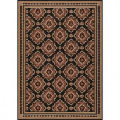 Hampton Bay Red and Black All Over 5 ft. 3 in. x 7 ft. 4 in. Indoor Outdoor Area Rug