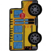 LA Rug Inc. Fun Time Shape School Bus Multi Colored 31 in. x 47 in. Accent Rug