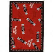 LA Rug Inc. Tootsie Roll Candy Multi Colored 19 in. x 29 in. Accent Rug