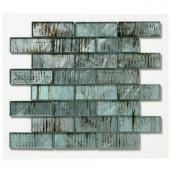 Solistone Folia Glass 12 in. x 12 in. Wisteria Glass Mesh-Mounted Mosaic Tile