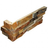 MS International California Gold Ledger Corner 6 in. x 18 in. x 6 in. Natural Slate Wall Tile