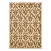 Natco Kurdamir Damask Ivory 7 ft. 10 in. x 10 ft. 10 in. Area Rug